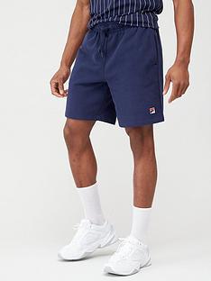 fila-vico-peached-fleece-shorts-navy