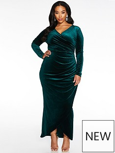 quiz-curve-quiz-curve-wrap-maxi-dress-with-ruched-side