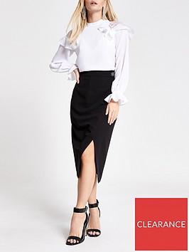 ri-petite-tux-wrap-midi-skirt--black