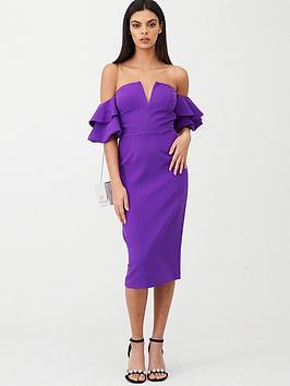 river-island-ruffle-bardot-sleeve-midi-dressnbsp--purple