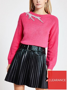 ri-petite-ri-petite-embellished-shoulder-knitted-jumper--pink