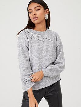 river-island-cut-out-knitted-jumper-grey