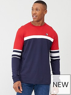 fila-baden-colour-block-sweatshirt-navywhitered