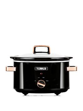 Tower T16018Rg 3.5L Slow Cooker - Rose Gold Best Price, Cheapest Prices