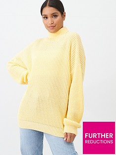 in-the-style-in-the-style-x-laura-jade-oversized-rib-knit-roll-neck-jumper-yellow