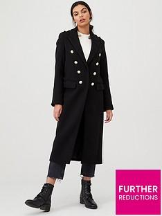 river-island-river-island-utility-longline-coat--black