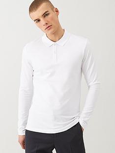 selected-milano-long-sleeved-polo-shirt-white