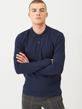 selected-homme-milano-long-sleeve-polo-shirt-navy