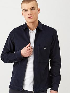 selected-homme-loose-cord-overshirt-navy