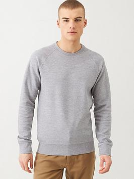 selected-homme-rami-pique-knit-sweatshirt-grey