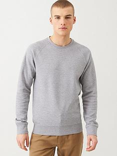 selected-rami-pique-knit-sweatshirt-grey