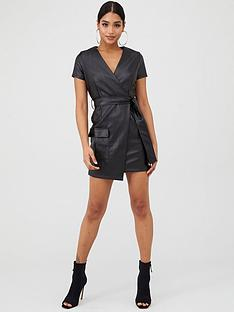 in-the-style-in-the-style-x-billie-faiers-faux-leather-wrap-mini-dress-black