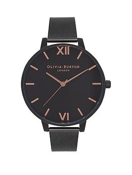 olivia-burton-olivia-burton-after-dark-matt-black-and-rose-gold-detail-big-dial-black-stainless-steel-mesh-strap-ladies-watch