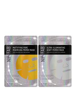 nip-fab-mattifying-oil-control-primer-mask-ultra-illuminating-dewy-primer-mask-duo
