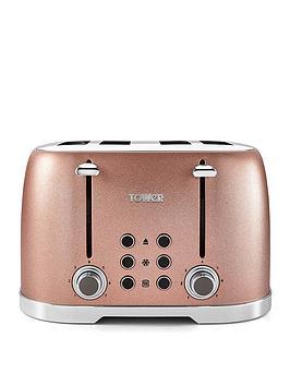 Tower Glitz 1600W 4 Slice Toaster - Blush Pink T20030Bp