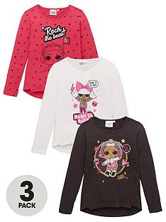 lol-surprise-girls-3-pack-long-sleeve-t-shirts-multi