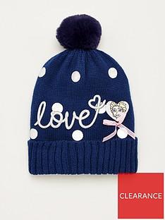 disney-frozen-girls-love-knitted-bobble-hat-navy