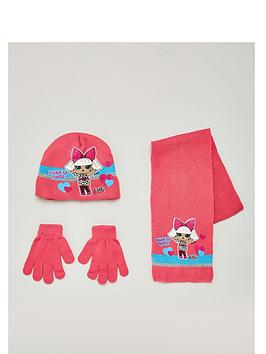lol-surprise-girls-3-piece-born-to-rock-knitted-hat-scarf-and-gloves-set-pink