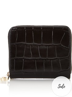 aspinal-of-london-slim-mini-continental-patent-croc-purse-black