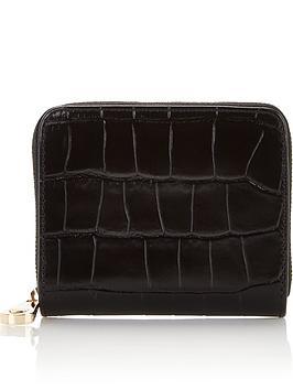 aspinal-of-london-slim-mini-continental-patent-croc-purse-black