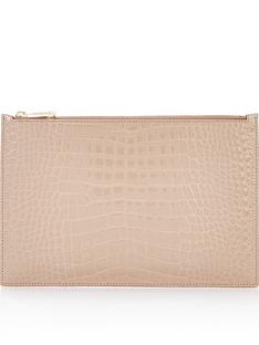 aspinal-of-london-patent-croc-large-essential-flat-pouch-taupe