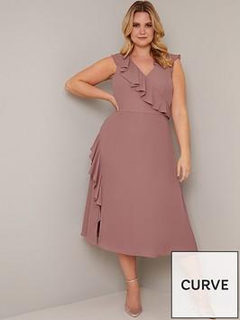 chi-chi-london-curve-kai-ruffle-wrap-style-dress-mink