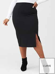 v-by-very-curve-jersey-crepe-pencil-skirt-black