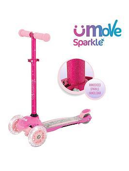 u-move-sparkle-compact-adjustable-tilt-led-scooter