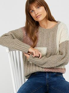 monsoon-pippa-patchwork-jumper-brown