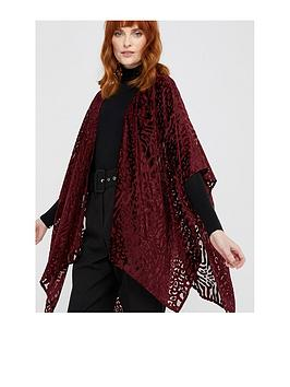 monsoon-panama-party-devore-cover-up-burgundy