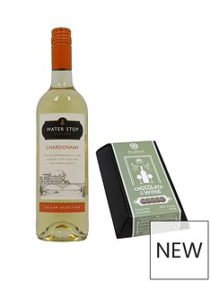 chocolate-meets-wine-35-milk-cocoa-selection-with-75cl-bottle-of-water-stop-chardonnay-accompaniment
