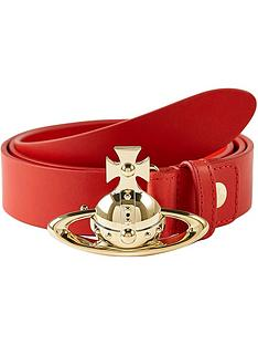 vivienne-westwood-orb-buckle-belt-redgold