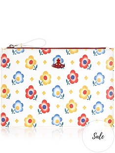 vivienne-westwood-derby-floral-print-pouch-white