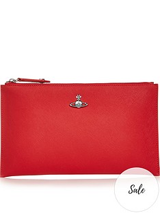 vivienne-westwood-victoria-zip-top-pouch-red