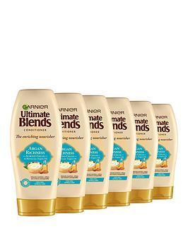 garnier-garnier-ultimate-blends-argan-oil-almond-cream-dry-hair-conditioner-360ml-pack-of-6