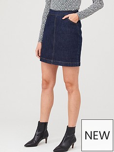 warehouse-denim-a-line-skirt-indigo