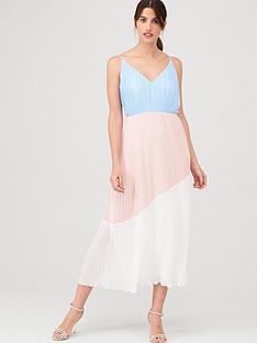 warehouse-colourblock-cami-dress-pale-pink