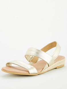 office-sallie-double-strap-wedge-sandals-gold-leather