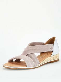office-hallie-wedge-sandal-grey-silver