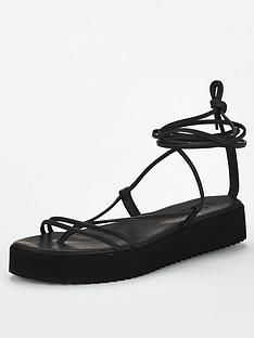 office-skinny-flat-sandal-black