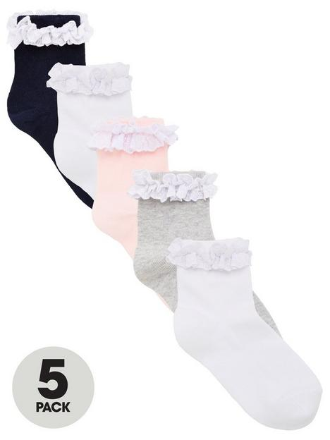 v-by-very-girls-5-packnbspoccasion-ruffle-frill-socks-multi