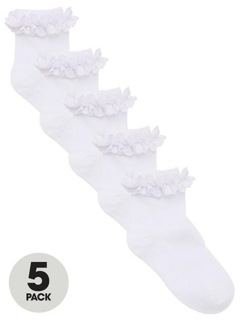 v-by-very-girls-5-pack-multi-occasion-ruffle-frill-socks-white