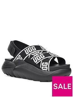 ugg-la-cloud-wedge-sandal-black