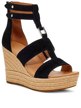 ugg-kolfax-wedge-sandals-black