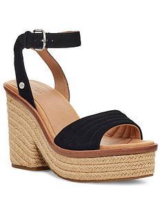 ugg-laynce-wedge-sandals-black