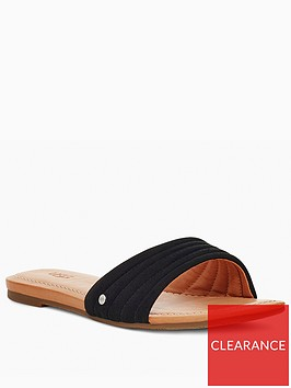 ugg-jurupa-flat-sandals-black