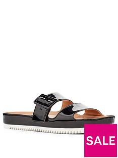 ugg-cooper-flat-sandal-black