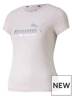 puma-girls-essential-t-shirt-pink