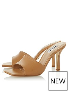 dune-london-mantra-heeled-mule-camel