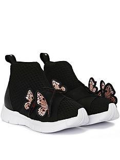 sophia-webster-girls-riva-sneakers-black